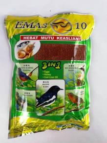 Emas10 3in1 Bird Feed Makanan Burung Halus 500gram