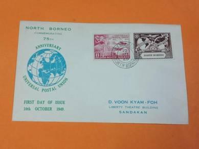 FDC UPU North Borneo 1949 X842