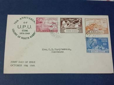 FDC UPU North Borneo 1949 X346