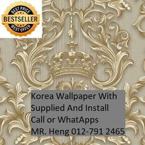 Wall paper Install at Living Space by7