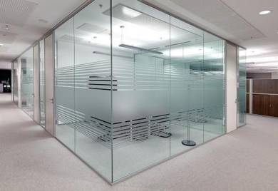 Partition Glass | Office Carpet Flooring | Blinds