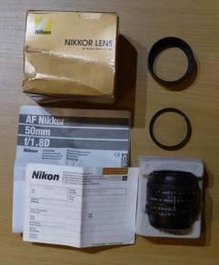 Nikon AF Nikkor 50mm f/1.8D Autofocus Lens DSLR