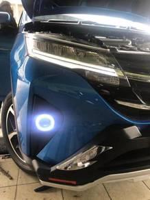 Perodua aruz led fog lamp sport light ( angel eye)
