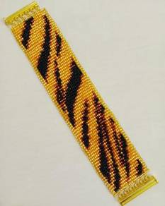 Handmade Tiger Stripe Bracelet