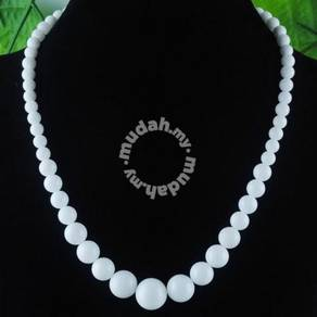 ABNJ-W002 6-14mm Exquisite White Jade Necklace