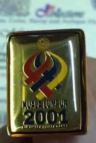 Pin KUALA LUMPUR 2001 Sukan SEA XXI SEA GAMES