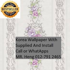 PVC Vinyl Wall paper with Expert Install gfh7485