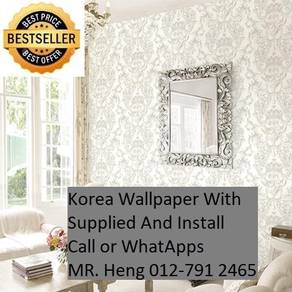 Beautiful In Wall paper with Installation gj75876