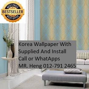 PVC Vinyl Wall paper with Expert Install 4867mhgvg