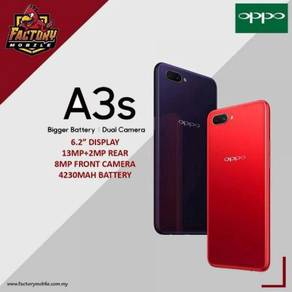 New Oppo A3S [2+16GB / 3+32GB] m'sia set foc case