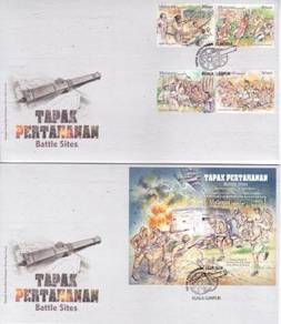 First Day Cover Battle Sites Malaysia 2016