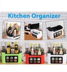 Kitchen organizer-white/red/green