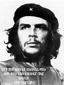 Poster che guevara black n white quotes a1