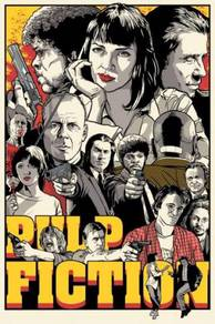 Poster MOVIE PULP FICTION ART DESIGN A1