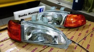 Honda EG6 EG9 New Headlamp TYC DEPO Signal Oren