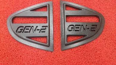 Proton gen 2 side window cover cermin segitiga
