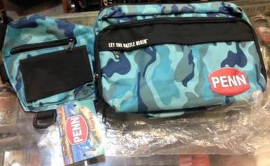 Penn Camo Waist Porch Fishing Bag / Sling Beg