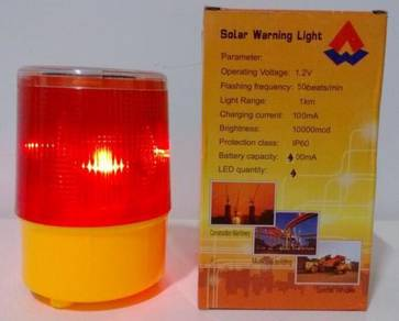 Solar Waterproof Emergency LED Flash Warning Light