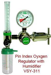 Medical oxygen regulator & suction regulator