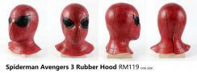 Spiderman Mask Hood Rubber Cap Deadpool Hood