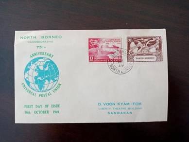 FDC UPU North Borneo 1949 A274