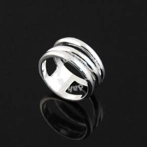 ABRWG-N001 NH Silver White Gold Filled Ring Size 8