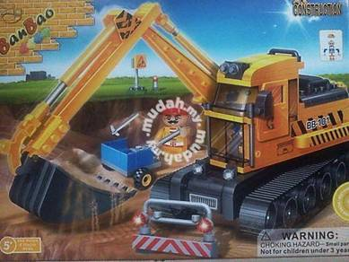 Bricks - Ban Bao BB 8536 Backhoe Excavator