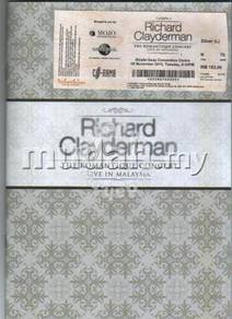 Richard Claydeman Concert Ticket and Booklet