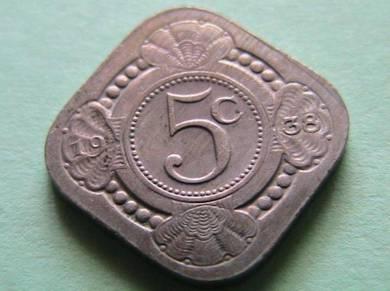 5 cent Netherlands 1938 [Kod : A0806]