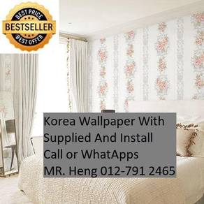 PVC Vinyl Wall paper with Expert Install guh7485
