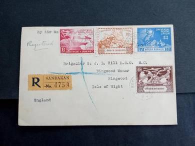 FDC UPU North Borneo 1949 No 3265