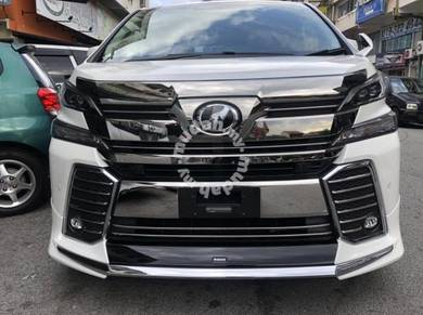 Toyota vellfire 2016 bumper number no plate chrome