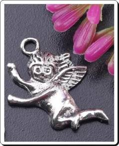 ABPSM-A004 Silver Metal Angel Pendant Necklace