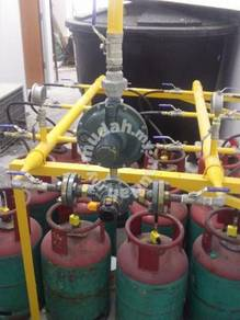 Auto Changer Gas Piping untuk Kedai Dobi Syiling