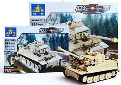 Bricks- Kazi KY 82011 Tiger Tank Heer block