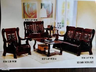 Wooden sofa set ks1688