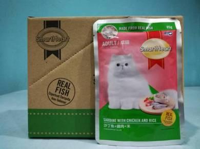 SmartHeart Pouch Adult Wet Cat Food 85g Sardine