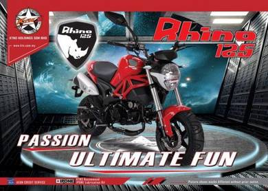 KTNS Rhino 125/Mini DucatI Monster (Low Dep)