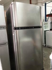 Big Fridge Sharp Refrigerator Peti Ais Freezer Ice