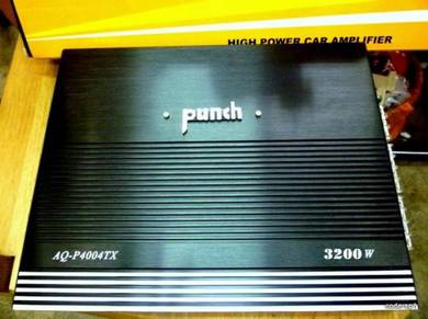 Punch4 Channel Car Stereo Amplifier System 3200w