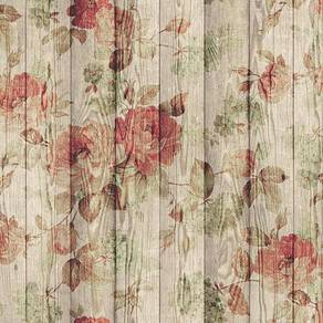 Wood garden red and orange design wallpaper