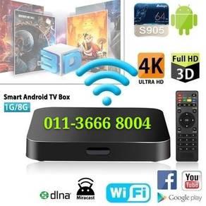 OLED Tx Android (8GB) Tv Box Iptv FullHD 4K