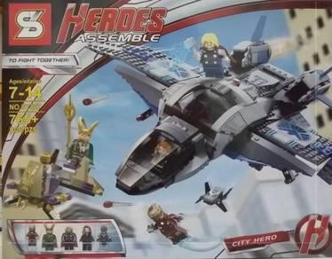 SY 327 Heroes Assemble Avengers Quinjet bricks