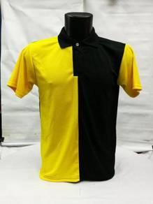 Tshirt Dewasa Custom Berkolar Tangan Pendek