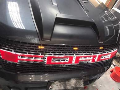 LED 3D ford ranger t6 front grill 2014