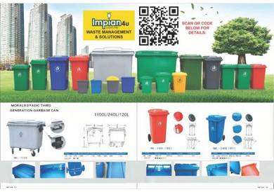 Tong sampah mudah alih dustbin trash bin ash bin2