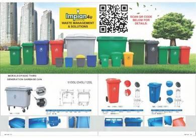 Tong sampah mudah alih dustbin trash bin ash bin 9