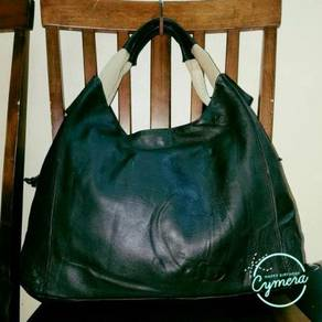 Hobo Bag Leather Kitamura