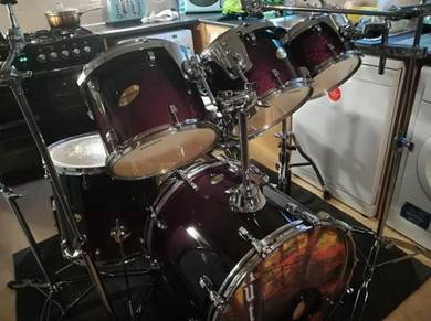 Ludwig, 6-shell drum kit + hardware + cases