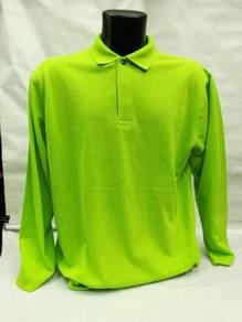 Tshirt Kolar Polo Plain Long Sleeve HC09 230gsm